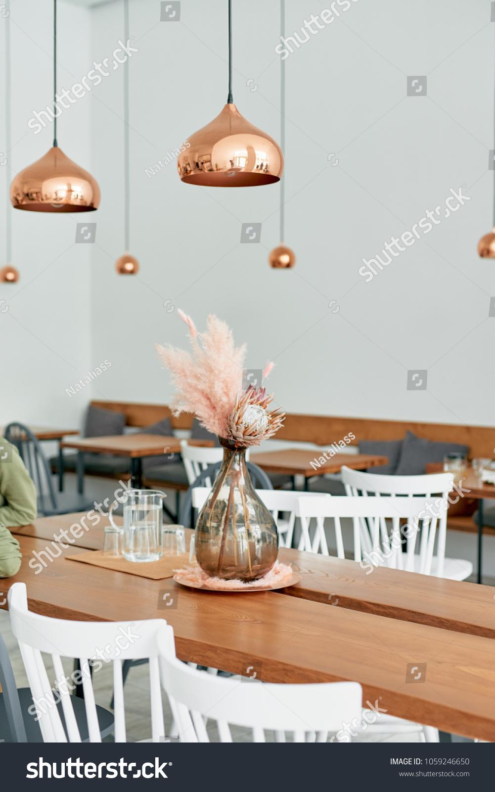 Trendy Modern Cafe Restaurant Light Pastel Stock Photo Edit Now 1059246650