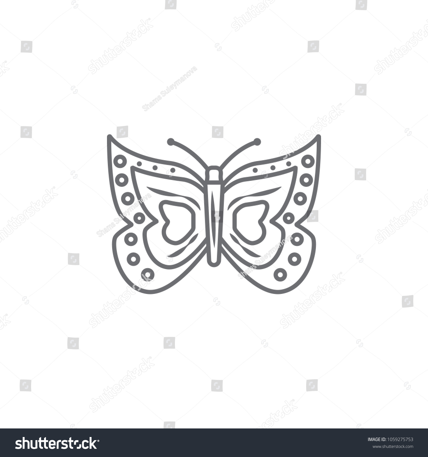 Easter butterfly icon simple element illustration stock vector easter butterfly icon simple element illustration easter butterfly symbol design template can be biocorpaavc Image collections