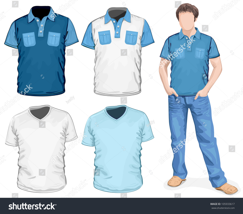 Design shirt v neck - Men S V Neck T Shirt Polo Shirts Design Template