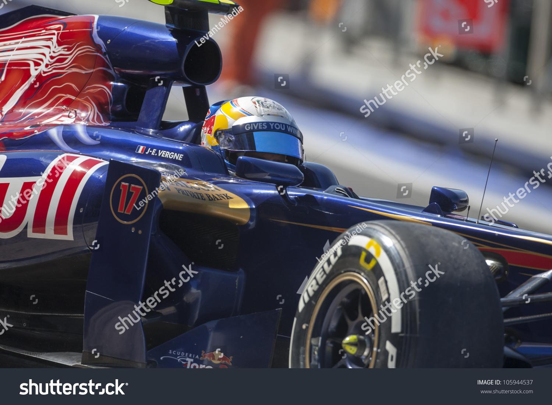 Circuito Valencia F1 : Valencia spain june jean eric vergne stock photo royalty free