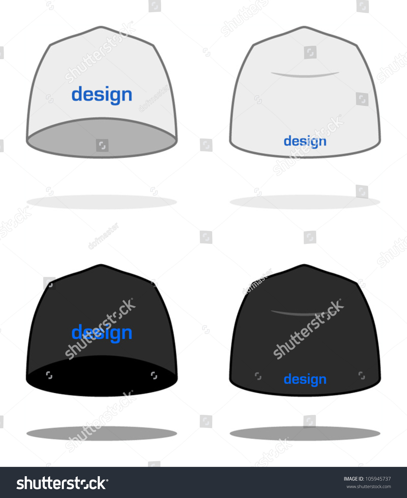 royalty free white beanie design template sample 105945737 stock