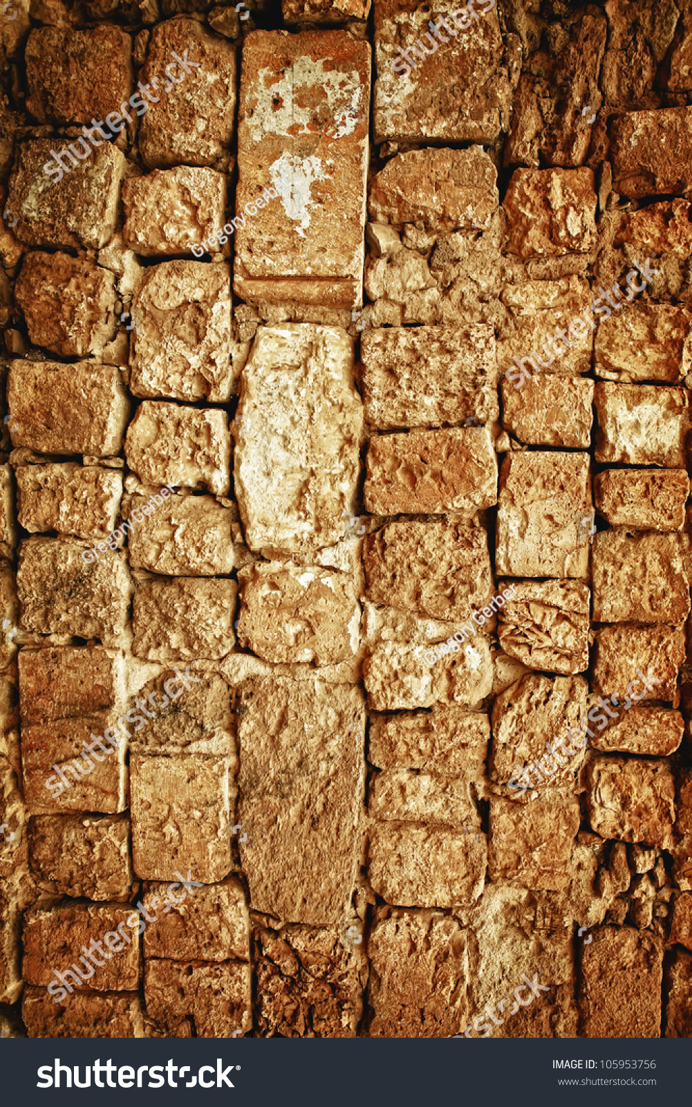 Vintage Stone Walls : Old style aged cracked vintage stone stock photo