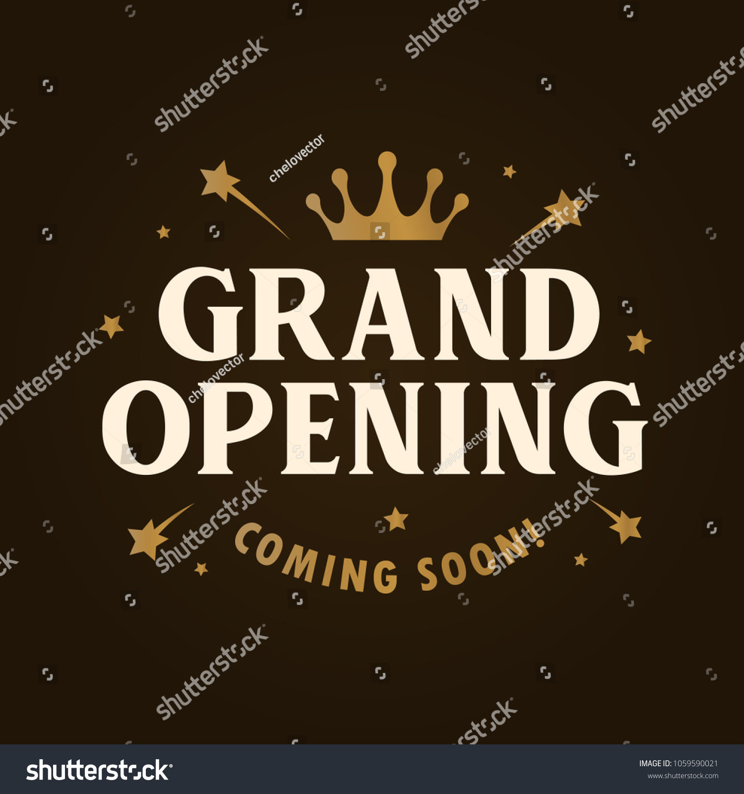 grand opening template banner poster lettering stock vector royalty