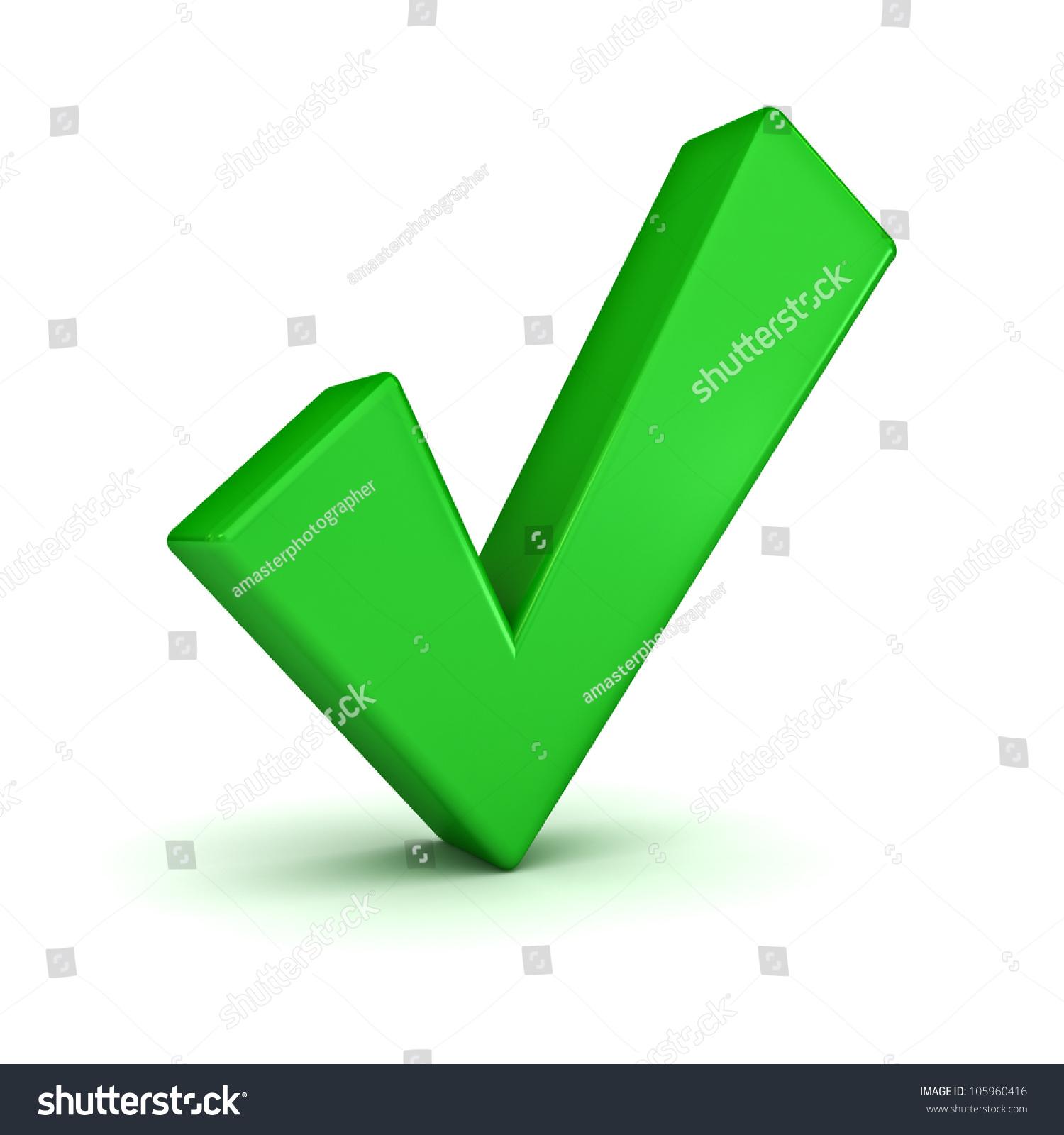 Green Check Mark On White Background Stock Illustration 105960416