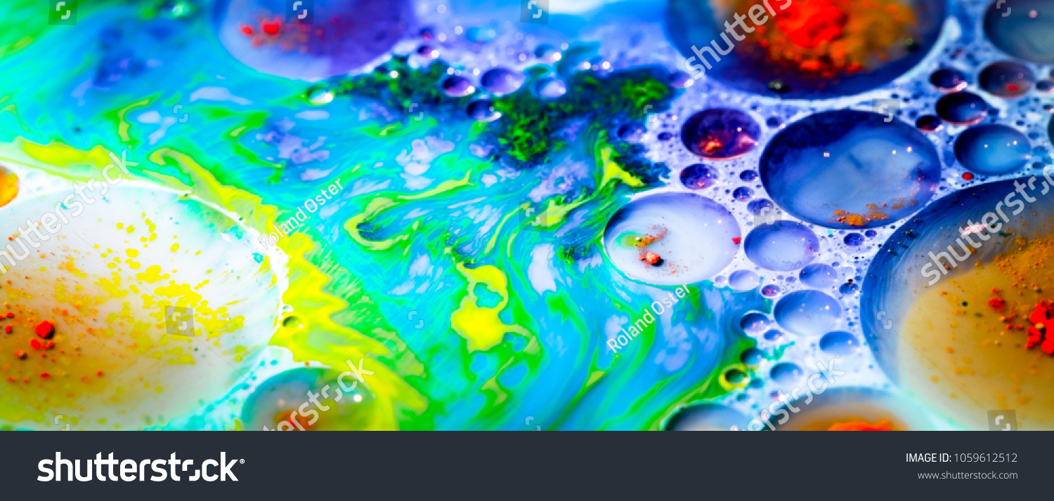 Mixing Food Coloring Oil Milk Water Stock Photo (Edit Now ...