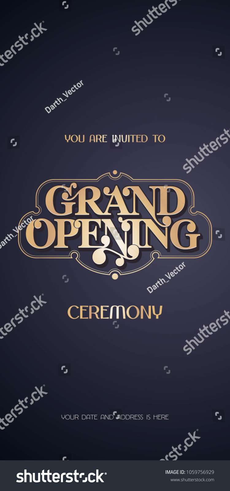 invitation card for opening new shop