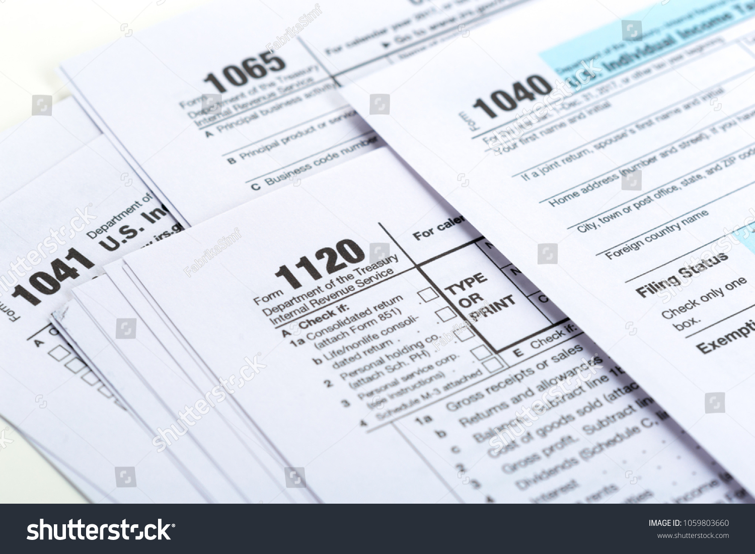 Tax Forms Close Stock Photo (Edit Now) 1059803660 - Shutterstock