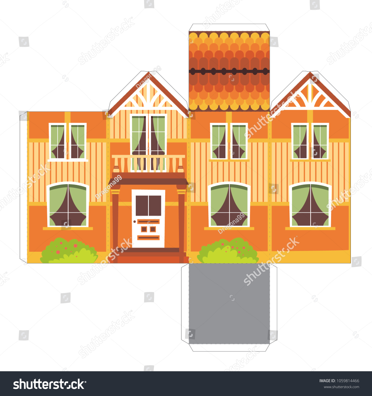 Make Your Own Toy House Paper Stock Vector (Royalty Free) 1059814466