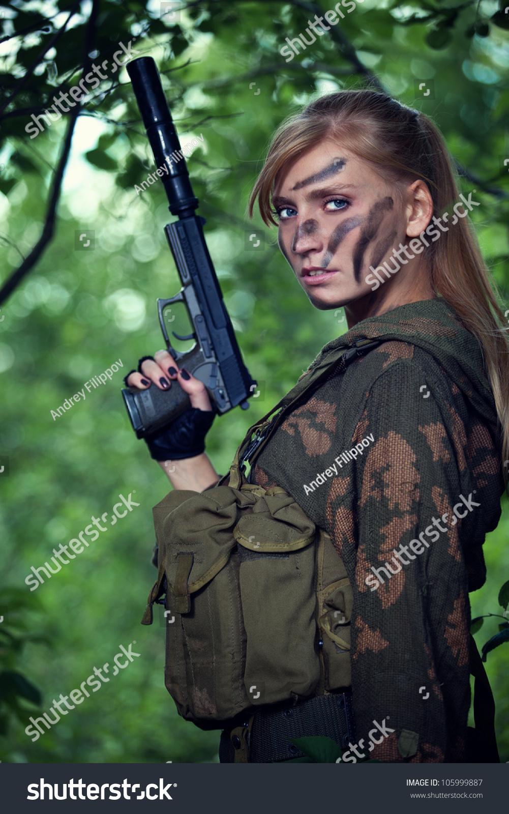 Camo Girl Stock Photo 105999887 - Shutterstock