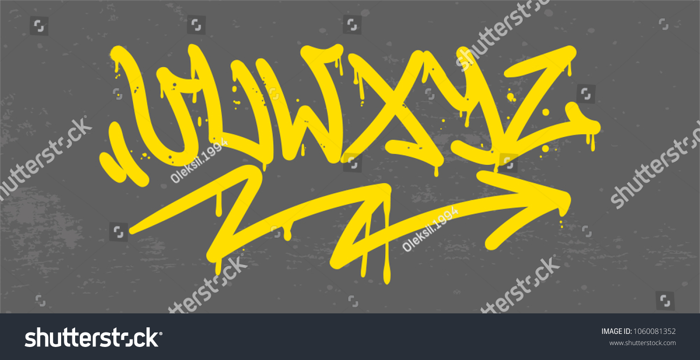 Set Street Type Calligraphy Design Alphabet Stock Vector 1060081352 ...