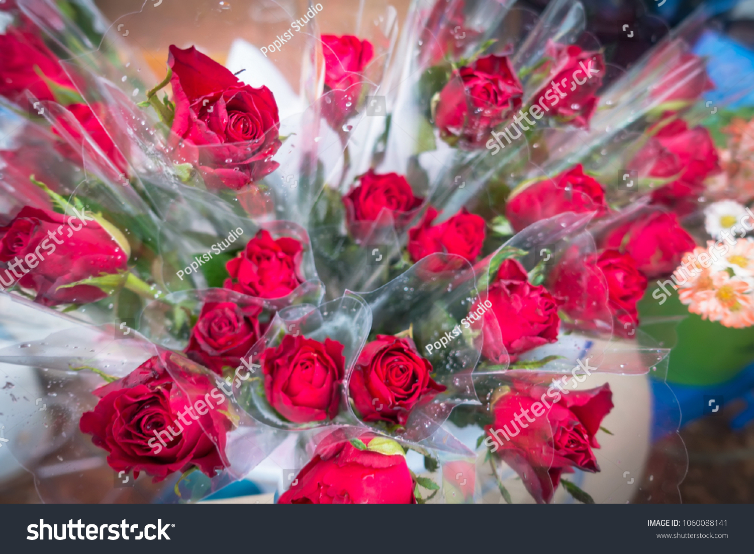 Bunch Bouquet Beautiful Flowers Celebrations Special Stock Photo