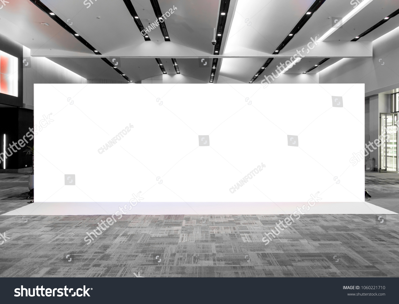 Fabric Pop Up basic unit Advertising banner media display backdrop, empty background #1060221710