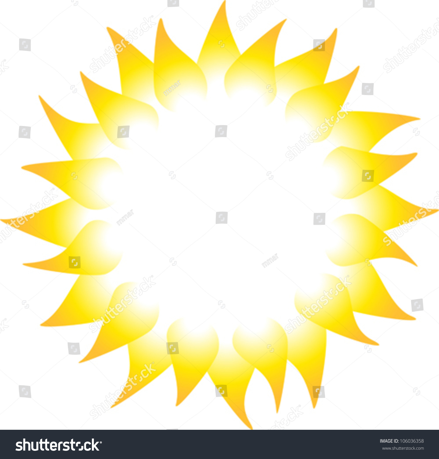 sun rays isolated on white background stock vector 106036358 rh shutterstock com sun ray vector free download vector sun ray brush free download
