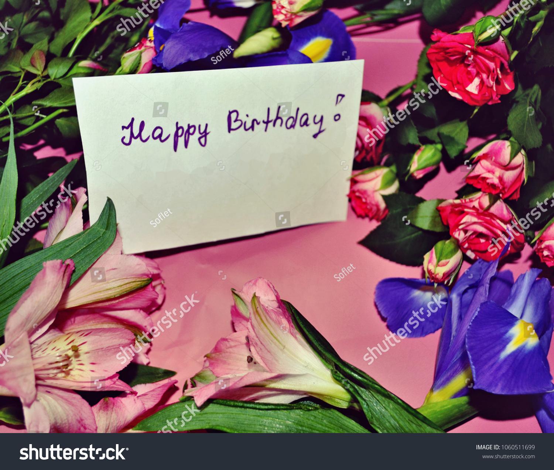 Birthday Card Happy Birthday Greetings Peruvian Stock Photo Edit