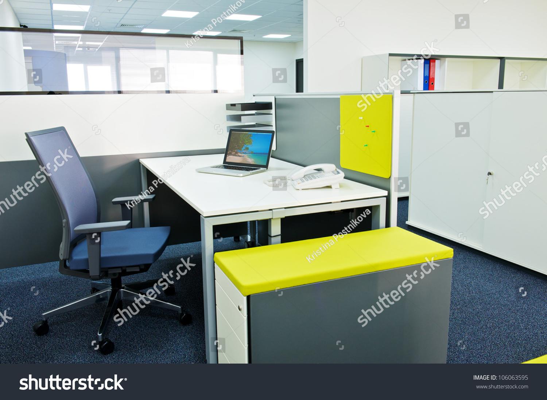 New ideas modern office interior stock photo 106063595 for New modern office interior