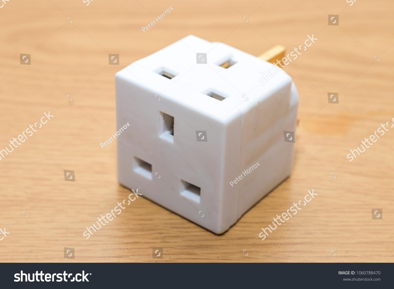 Uk Multi Plug Adapter Extension Stock Photo Edit Now 1060788470 Wall Socket Wiring