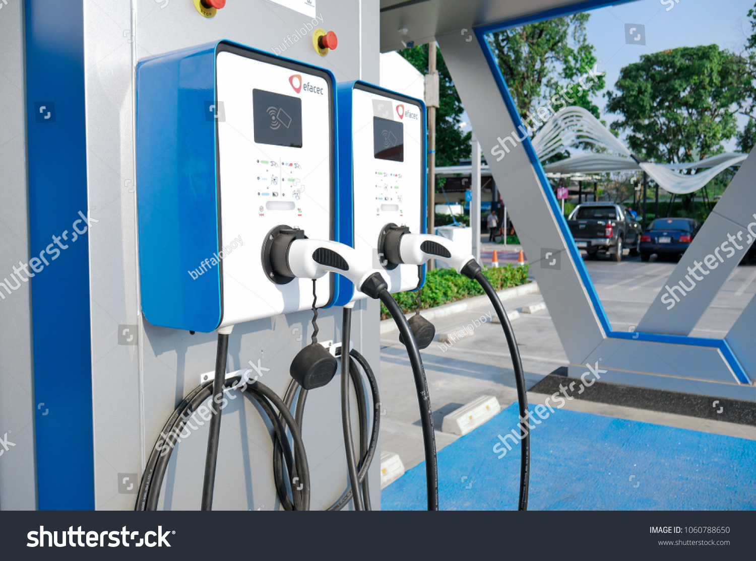 Ptt Have Electric Vehicle Charging Station Stock Photo Edit Now Car Stations On Gas Pocket Bike Wiring Diagrams Ev Sevice In Petrol Bangkok 4