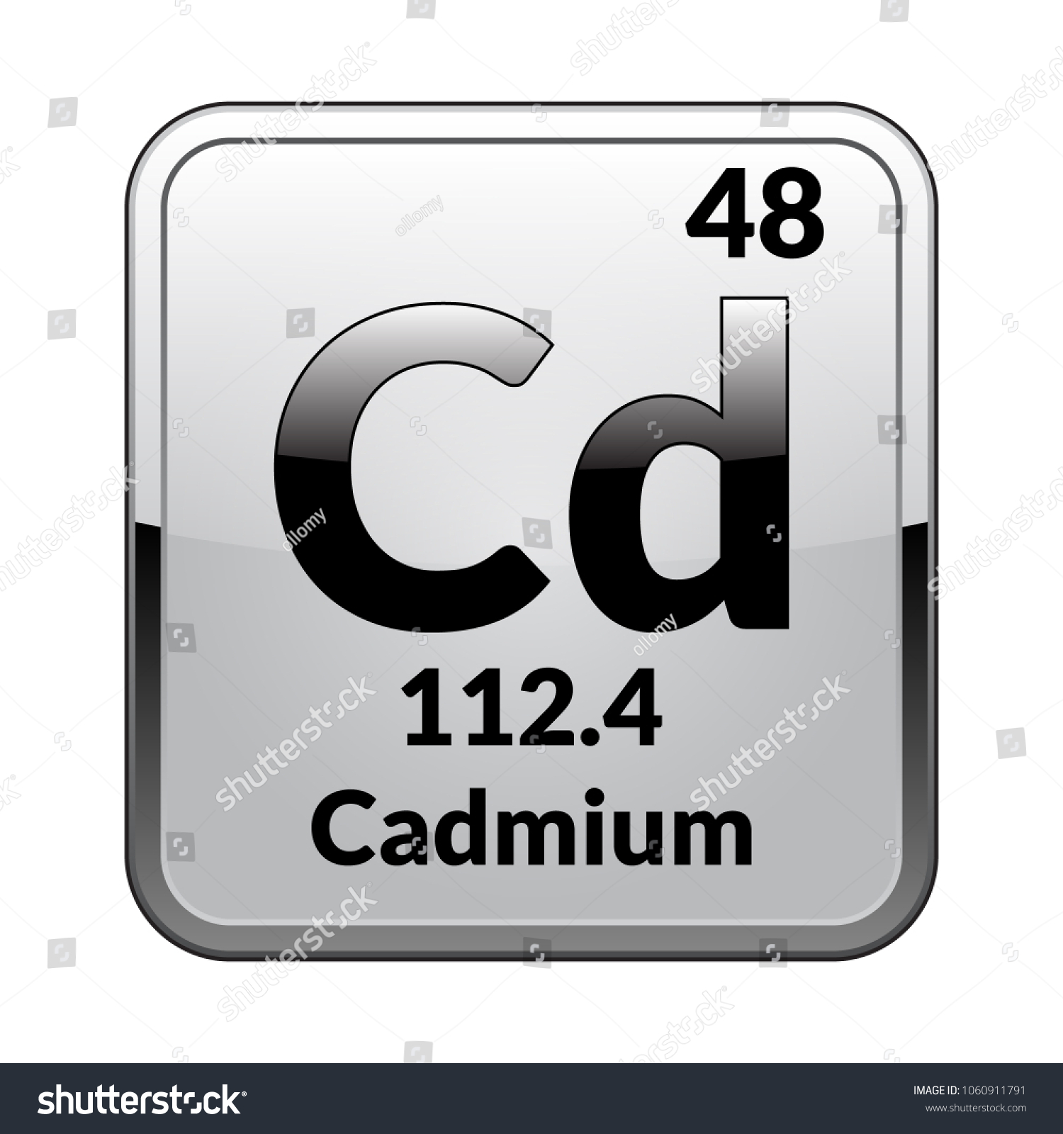 Cadmium symbolchemical element periodic table on stock vector cadmium symbolemical element of the periodic table on a glossy white background in a biocorpaavc Gallery