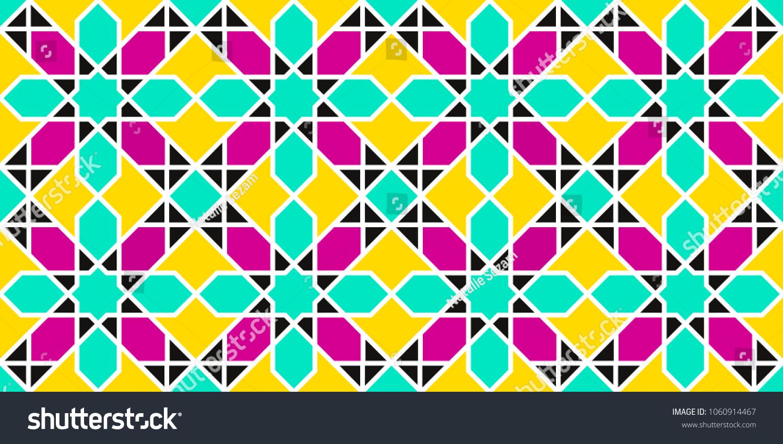 9f9aa22d8121 Arabic background. Islamic geometric seamless patterns . Vector eastern  texture. Flowers decor elements.