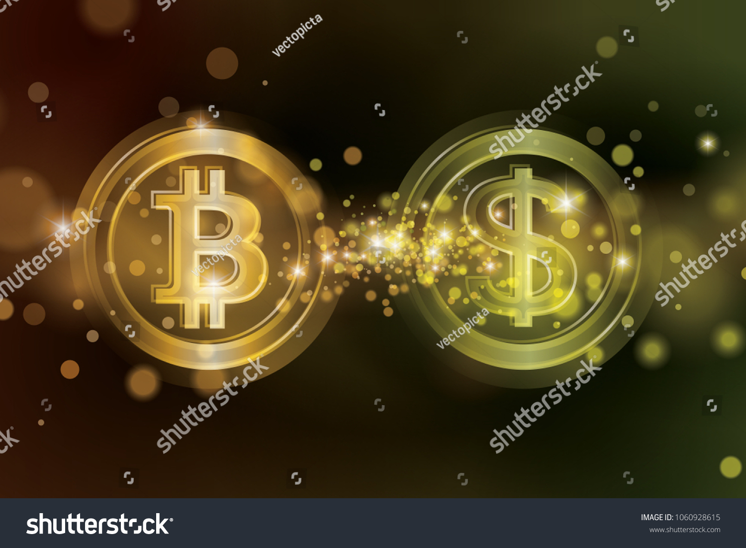 Exchange Bitcoins Usd Bitcoin Sale Dollars Stock Vector Royalty