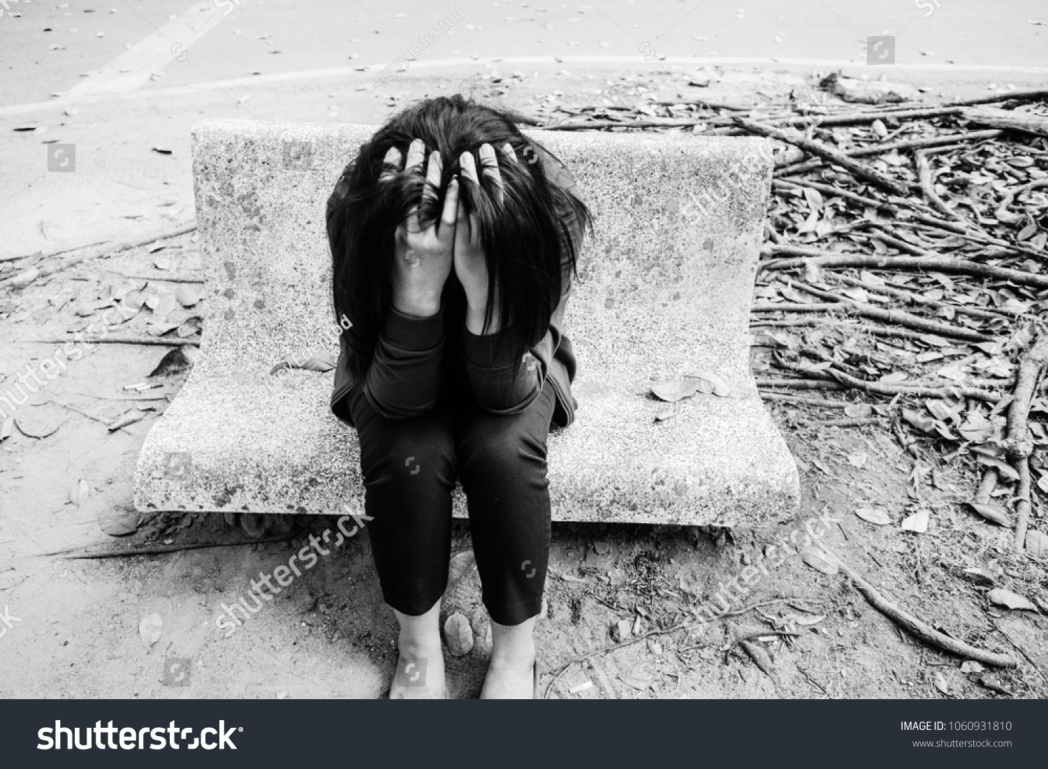 Unhappy Lonely Depressed Woman Contemplating Suicide Stock Photo Edit Now 1060931810
