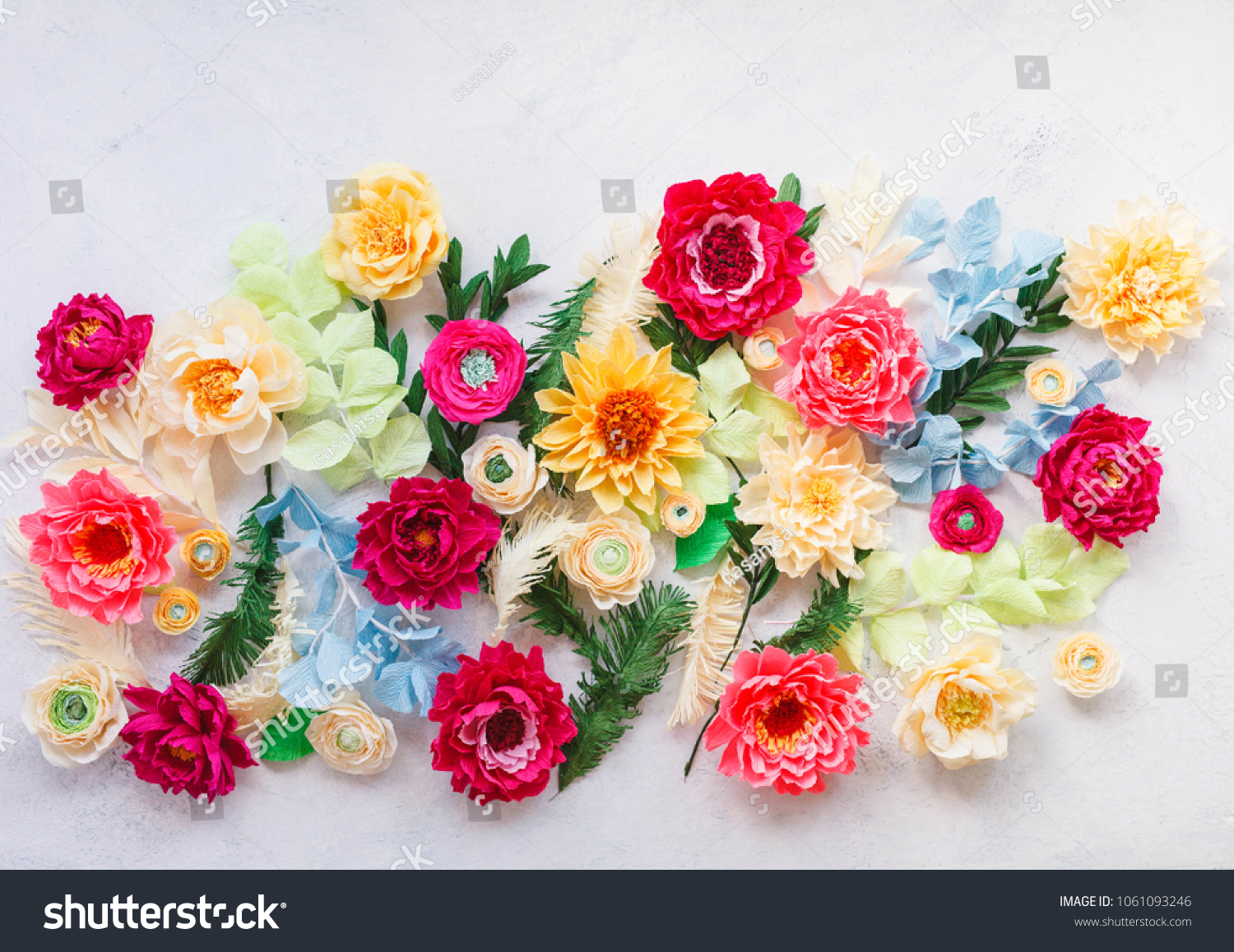 Craft Paper Flowers Crepe Paper Floral Stock Photo Edit Now