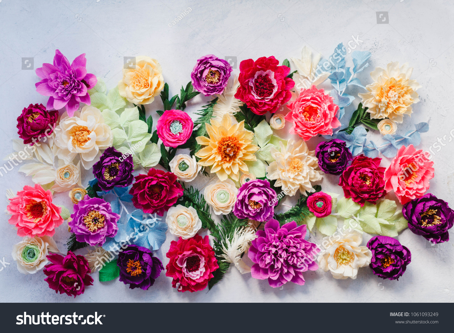 Craft Paper Flowers Backdrop Floral Design Stock Photo Edit Now