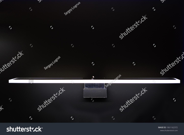 Modern Led Light Image Glass Shelf Stock Photo (Edit Now