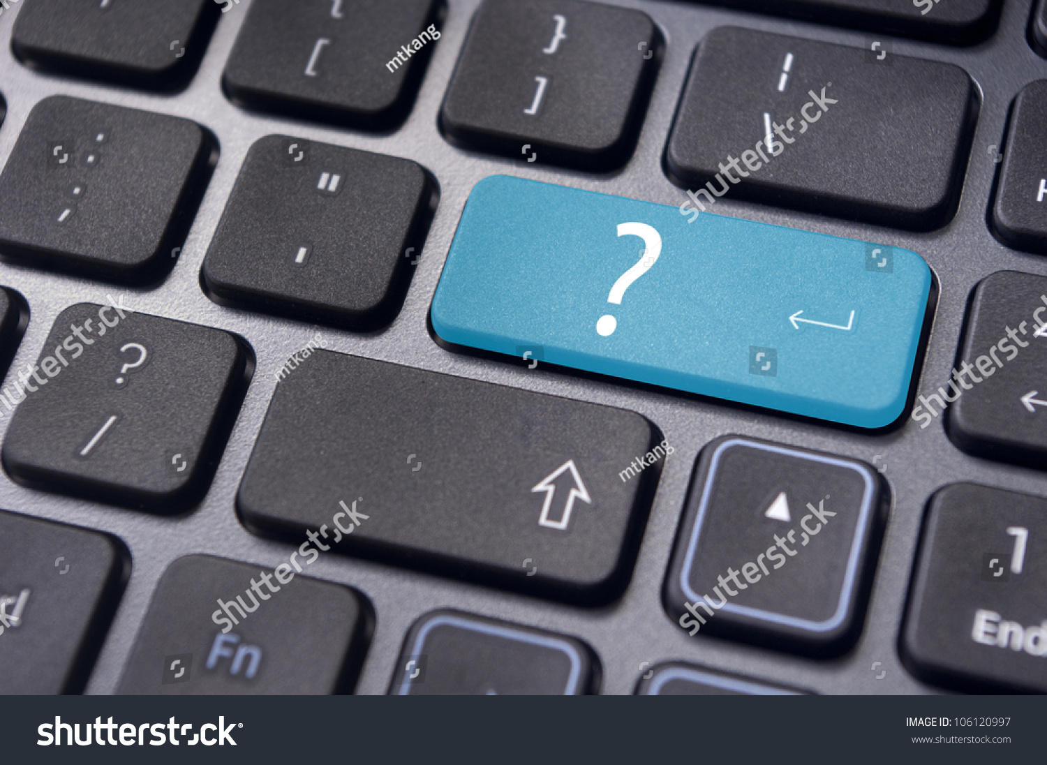 Concepts Questions Computer Errors Malfunction Alert Stock Photo