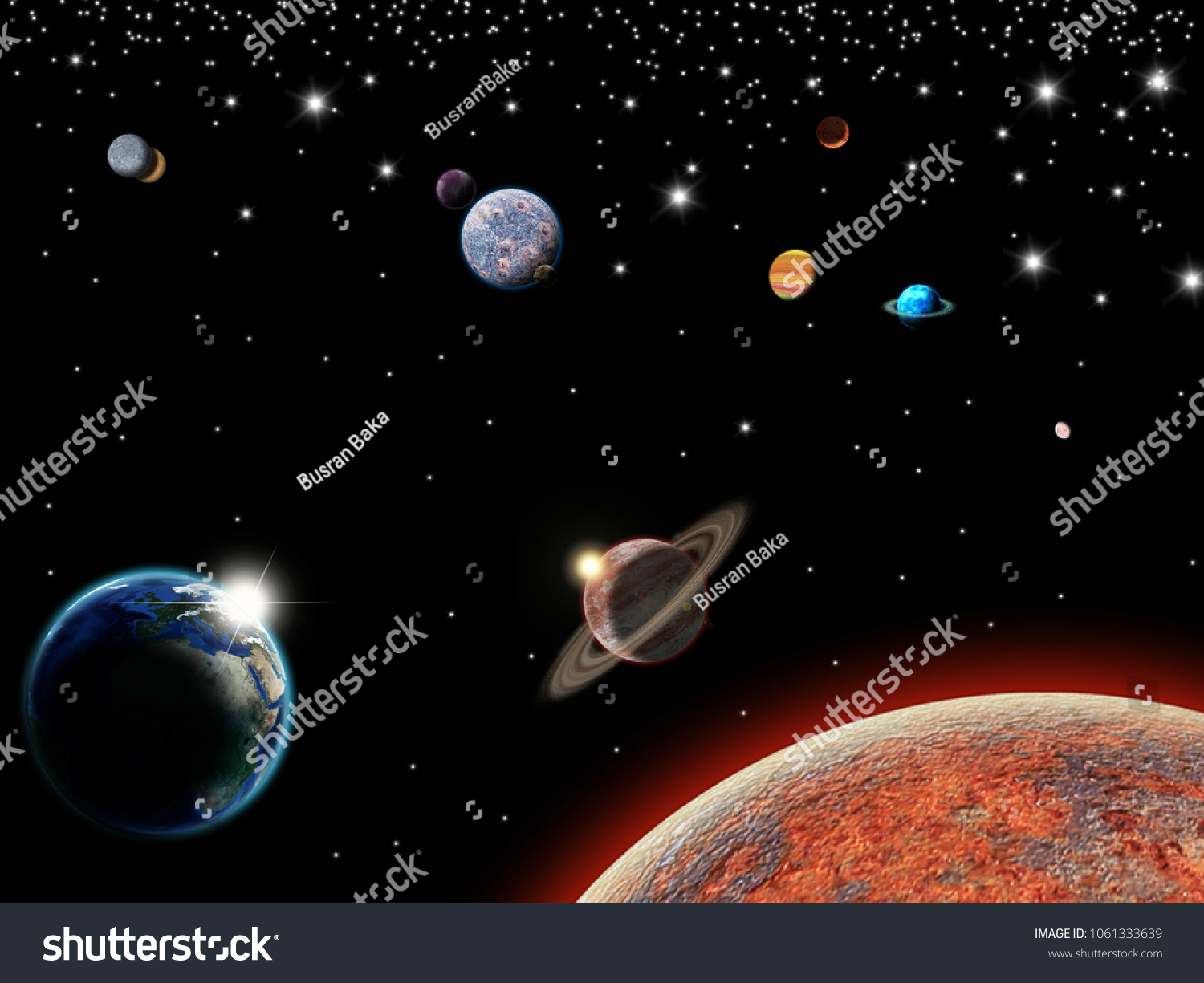 stock photo background galaxy outer space earth wallpaper 1061333639