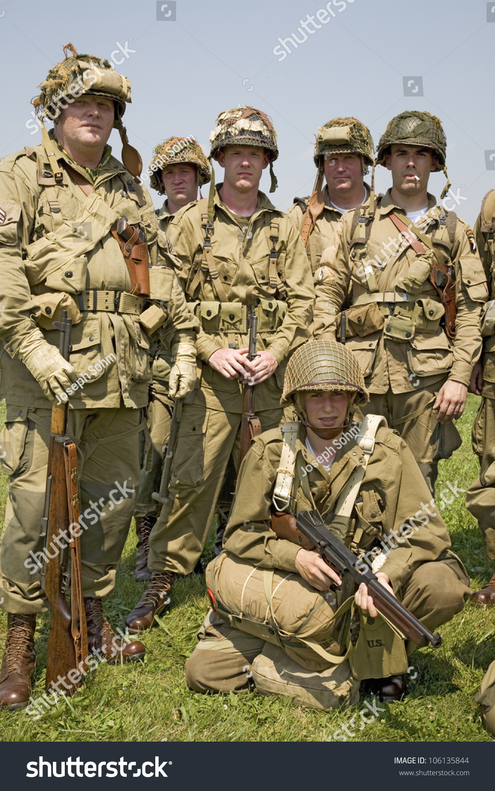 american infantryman gi joes posing mid atlantic stock photo edit