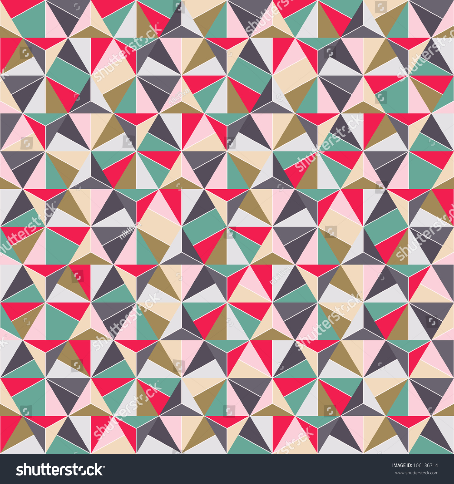 Geometric Triangle Shape Seamless Pattern Vector