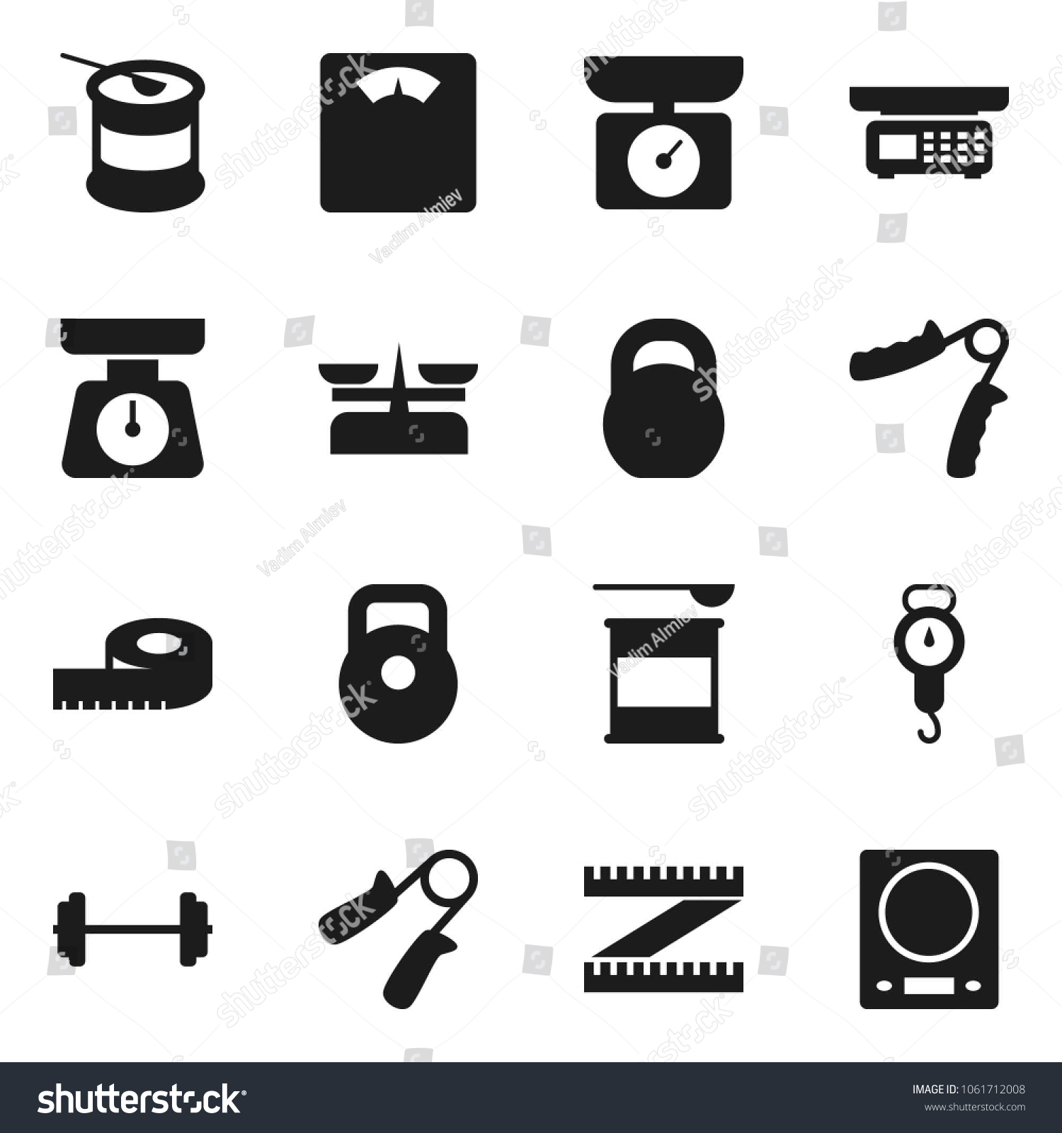 Flat Vector Icon Set Scales Vector Stock Photo (Photo, Vector ...