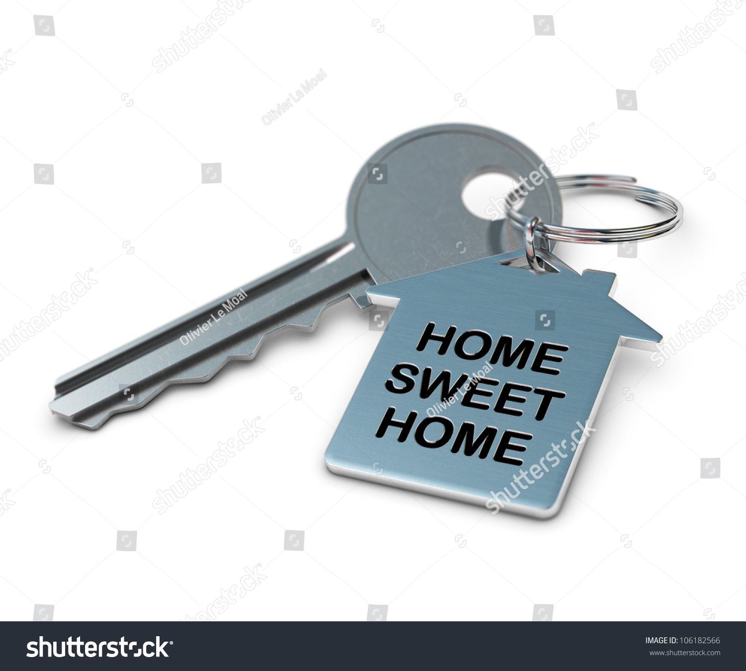 Home sweet home written onto a metal keyring home shape for Sweet home 3d italiano