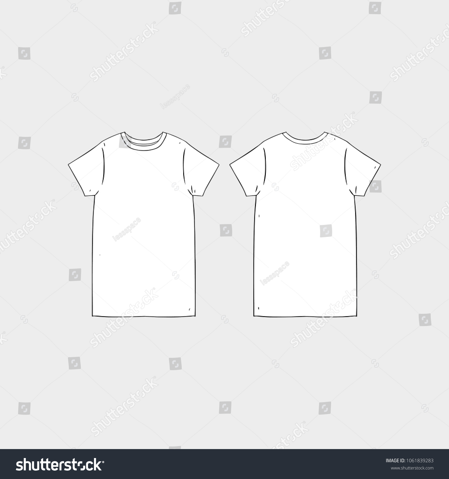 image relating to Printable T Shirt Templates identified as Blank Tshirt Template Printable