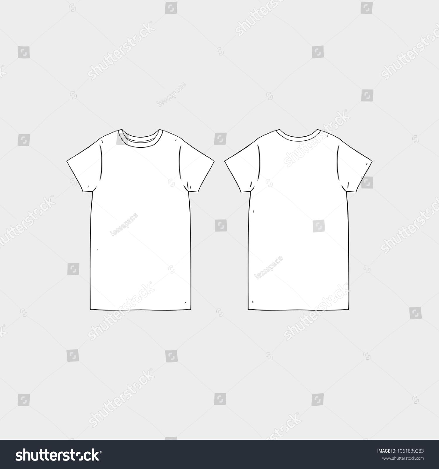 image relating to Printable T Shirt Templates identified as Blank Tshirt Template Printable