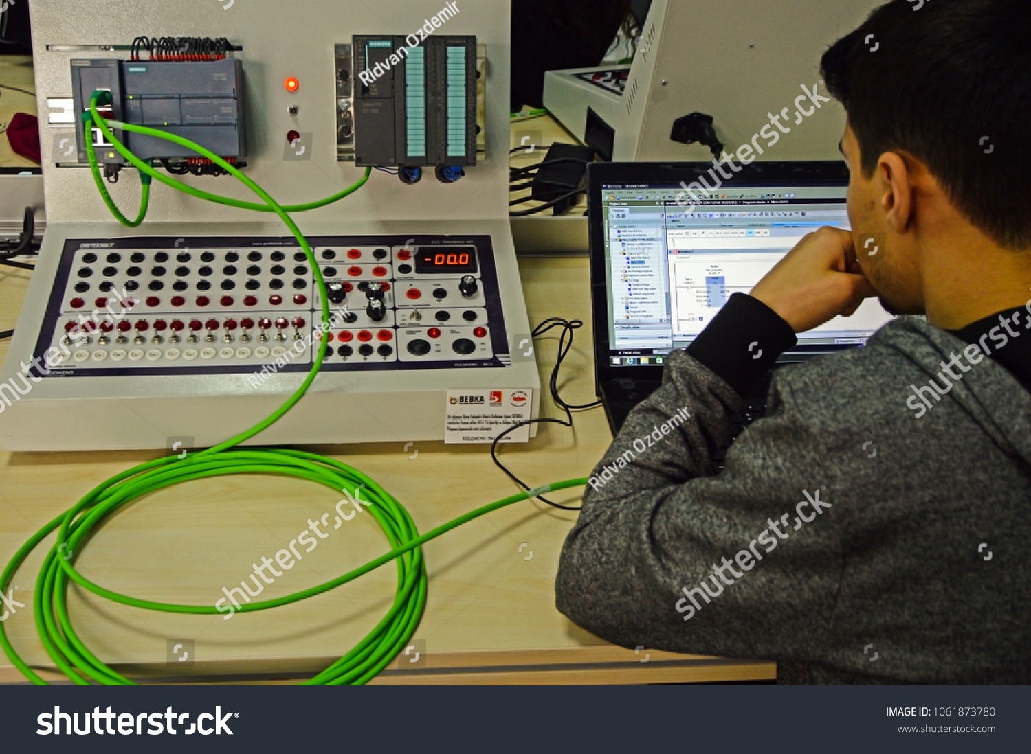 Bilecik Turkey March 22 2018 Operator Stock Photo Edit Now Electrical Wiring Course An Student Is Taking Plc