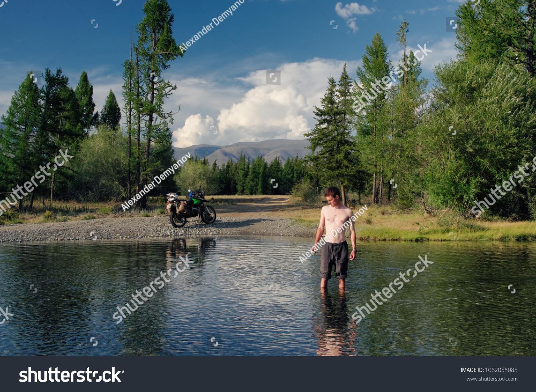 Nude bank fishing