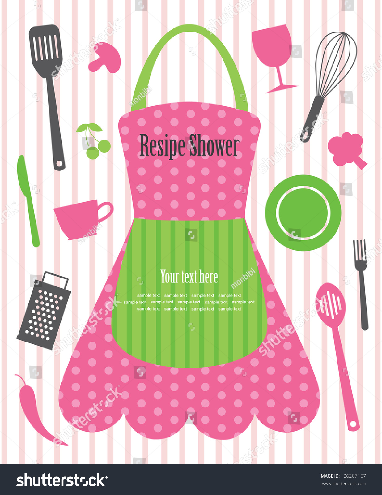 Kitchen Shower Kitchen Shower Vector Illustration Stock Vector 106207157