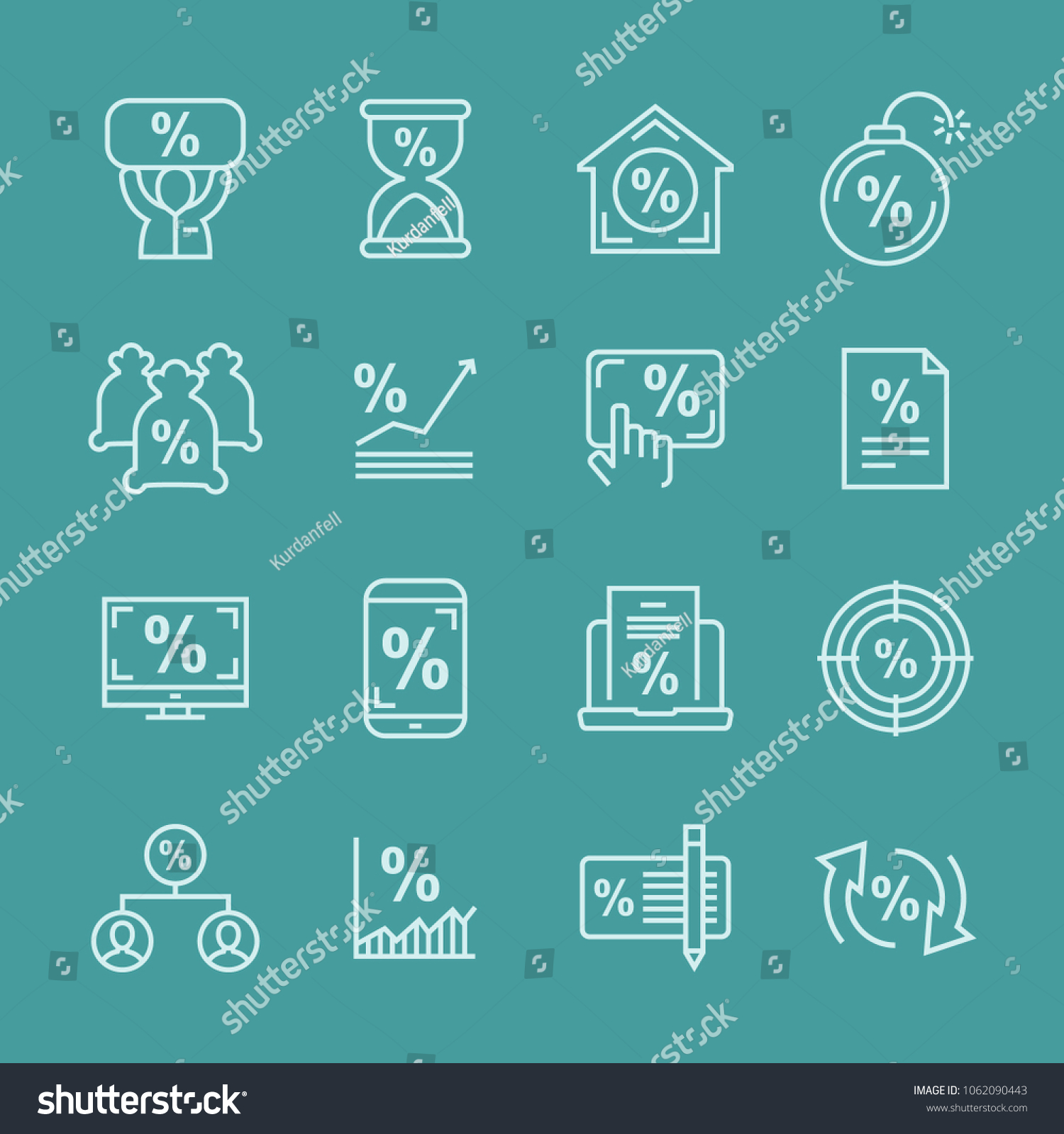 Deposit Profit Business Income Minimal Thin Stock Vector Royalty Simple Schematic Collection And Line Web Icon Set Outline Icons