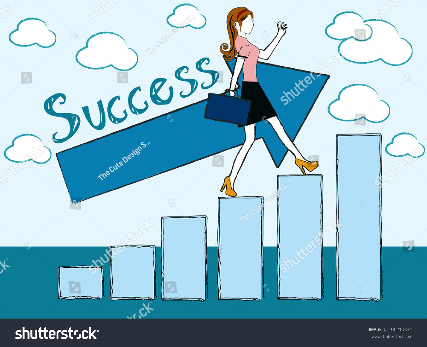 successful w business w success chart stock vector successful w business w success chart vector