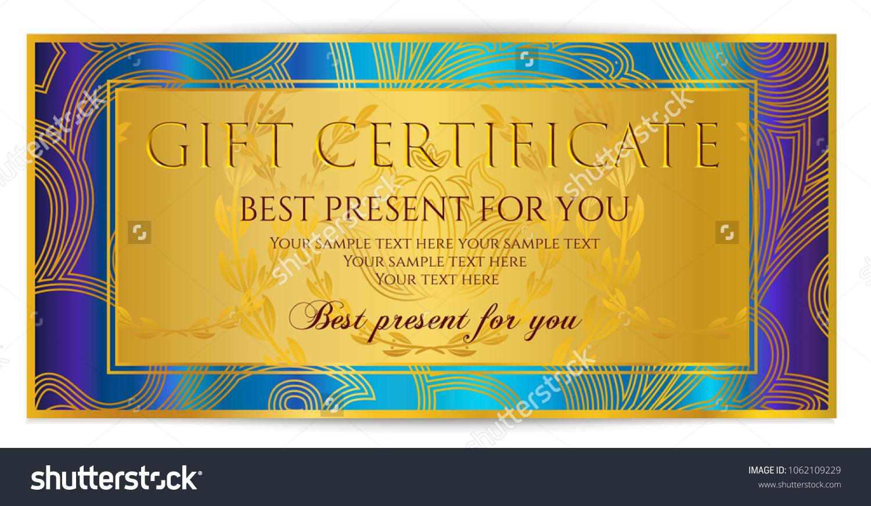 Gift Certificate Template Printable Gift Voucher Stock Vector