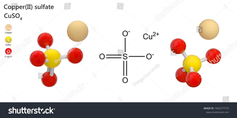 Copper Ii Sulfate White Solid Older Names Stock Illustration