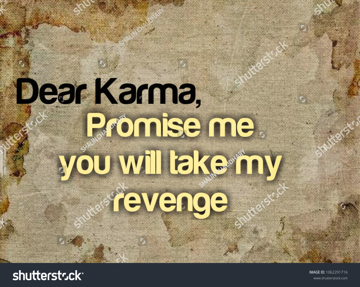 Dear Karma Promise Me You Will Stock Illustration Royalty Free