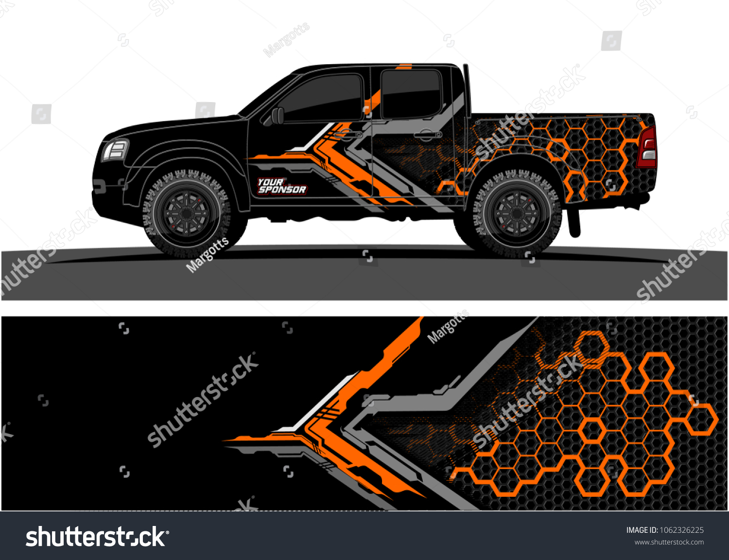 Truck graphic abstract modern lines graphic design for truck and vehicle wrap and branding stickers