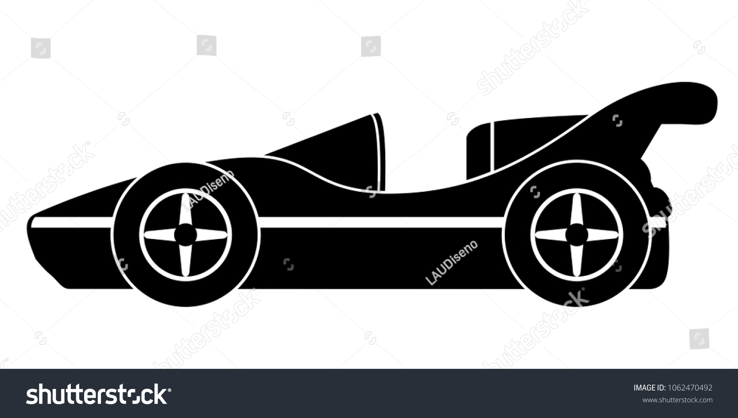 Isolated Old Racing Car Icon Stock Vector (2018) 1062470492 ...
