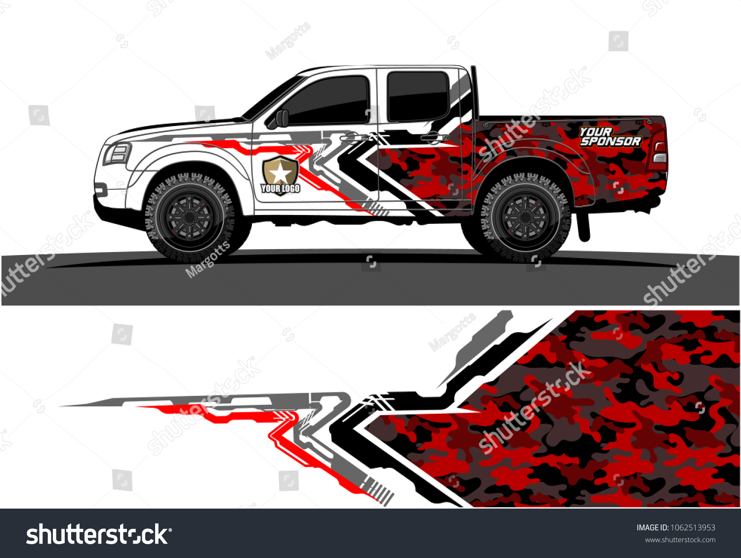 Truck graphic vector abstract tech lines background design for wrap and vehicle sticker branding