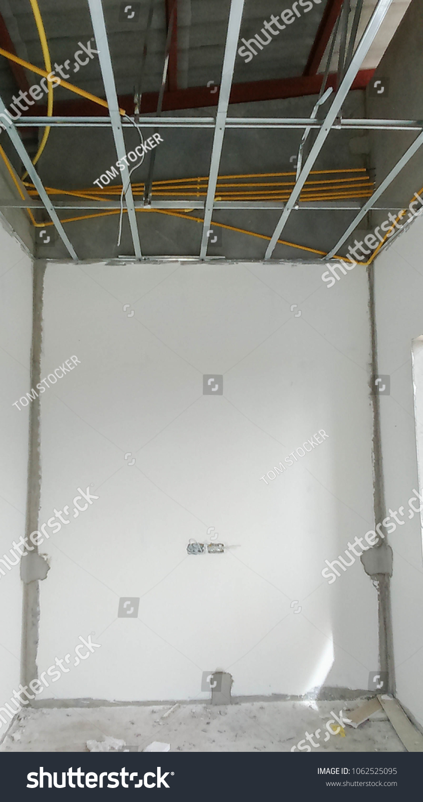 Installation Ceiling Support Emt Conduit Electrical Stock Photo ...