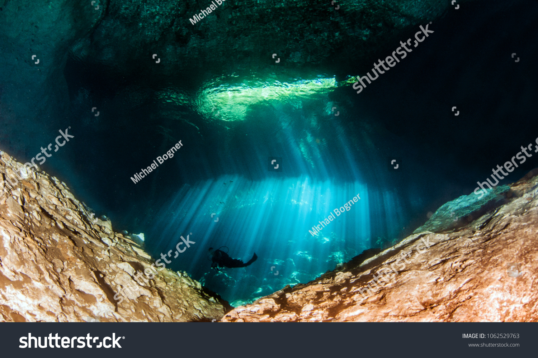 Diving Cenote Jardin Del Eden Yucatan Foto de stock (editar ahora ...
