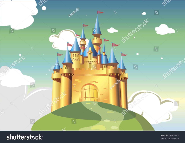cartoon castle vector illustration cartoon bright stock vector
